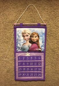 Disney Frozen ELSA ANNA Advent Calendar   Purple Felt