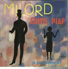 45 TOURS  4 TITRES/ EDITH  PIAF   MILORD   B6
