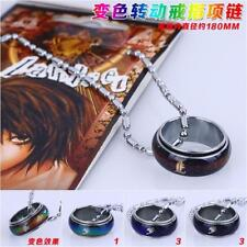 Death Note L Finger Ring Chameleon Metal Necklace Pendant Anime Cosplay