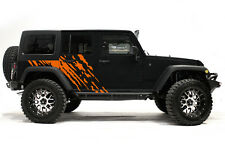Vinyl Decal Wrap Kit fits 4-Door 2007-2016 Jeep Wrangler Rubicon SPLASH - Orange