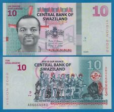 Swaziland 10 Emalangeni P 41 2015 UNC Low Shipping! Combine FREE!  VISION 2022