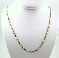 """14KT ITALY SOLID Yellow GOLD 1.3mm  FIGARO LINK CHAIN NECKLACE  16"""""""