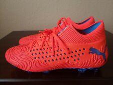 Puma Future 19.1 Netfit FG/AG Soccer Cleats Orange/Red/Blue 105531-01 Men Sz 10
