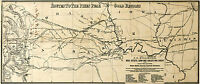 1860 Map Pikes Peak Gold Rush Mining Regions Mines Colorado Wall Poster History