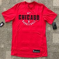 Nike Dry Mens Red Basketball T-Shirt Size MT Tall NBA Chicago Bulls 877527-657