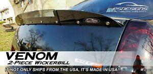 2 Piece 2005-2010 Chrysler 300 SRT Rear Wicker Bill wickerbill Spoiler