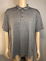 G.H. Bass & Co. Men's Polo Style Shirt Short Sleeve Size 2XL XXL GRAY Grey