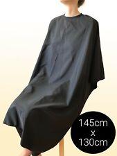 Friseurumhang Schwarz Haarschneideumhang mit Hakenverschluss Wasserabweisend