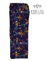 LuLaRoe Kids Halloween Print Purple Leggings Sz L/XL Scarecrow Unicorn NWT C1304
