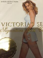 Victoria Secret Sheer Seduction Stay-ups Color Navy Size: Extra Small 7727 - 10