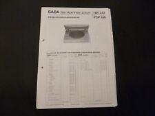 Original Service Manual Saba PSP 185