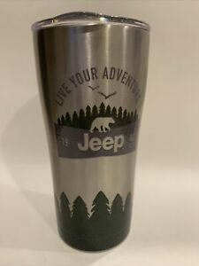 Tervis Tumbler JEEP Trees Rugged Outdoors  4WD 20Oz Stainless w Lid NEW