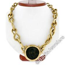 Collares y colgantes de joyería de oro amarillo de 18 quilates, monedas