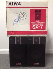 Vintage NOS Aiwa SX-7 Acoustic Suspension Speaker System NEVER USED NEW Open Box