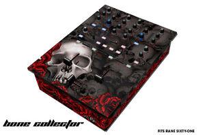 Skin Decal Wrap for RANE Sixty-One DJ Mixer CD Pro Audio Parts DJM CDJ BONES BLK