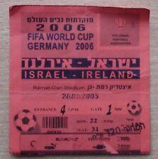 Tickets Israel - Ireland 2005