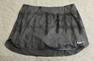 Nike Women's Court Pure Printed Lined Mini Tennis Skirt AM1 Light Carbon Medium