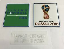 2018 World Cup Russia Final France vs Croatia Match Detail Iron On Patch Set
