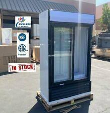 """New Commercial Merchandiser Refrigerator Cooler 2 Slide Door Nsf 44"""" x 20"""" x 77"""""""