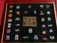 NBA Team Collector Pin Set of 31 Pins with Case All Metal Free Shipping w/Bonus