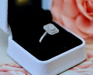Antique Jewellery White Gold Ring GIA Natural Diamonds Vintage Art Jewelry  N