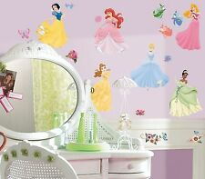DISNEY PRINCESSES WALL DECAL APPLIQUES -  STICKERS INCLUDING GEMS - PEEL & STICK
