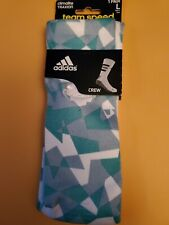 Adidas socks rare large Traxion crew. white and green