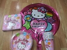 4pc Lot 2010 Amscan Hello Kitty Birthday Multi-color Party Goods  NOS