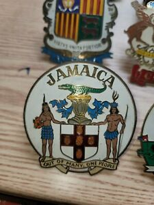 Jamaica Vintage Car Grill Badge