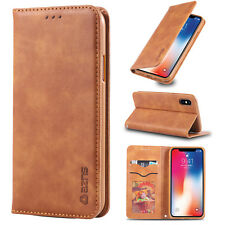 For Apple iPhone X XS Max Case XS XR New Magnetic Flip Leather Wallet Thin Cover