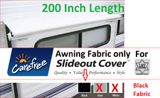 Black Carefree Awning Fabric; 200 Inch Length; Slide Out Fabric Replacement;