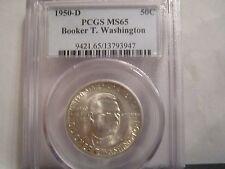 1950-D  Booker T Washington Commemorative  Half Dollar   PCGS MS-65