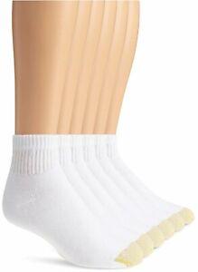 Gold Toe Men's 6 Pack Cotton Quarter Athletic Socks (656P),, White, Size 6.0 P77