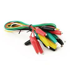 10 x Alligator / Crocodile Clip Coloured Test Leads Double Ended Test Leads TL
