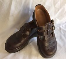 Doc Dr Martens Burgundy Mary Janes Made In England Size 5 UK (7 US)