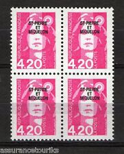 SAINT PIERRE ET MIQUELON - 1993 YT 572 - bloc de 4 - TIMBRES NEUFS** LUXE