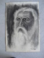 Vintage 1957 Ken Urion Watercolor Painting Old Man