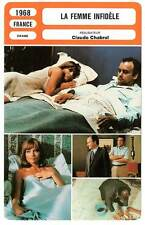 FICHE CINEMA : LA FEMME INFIDELE  Audran,Bouquet,Chabrol1968 The Unfaithful Wife