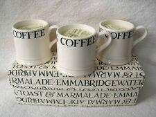 3 Emma Bridgewater Nera Toast Espresso Tazze candela fuori produzione da collezione NUOVO