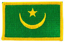 FLAG PATCH PATCHES MAURITANIA IRON ON COUNTRY EMBROIDERED SMALL
