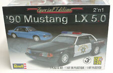 Revell 1/25 '90 Ford Mustang LX 5.0 NEW IN STOCK  Police Package & Stock 854252