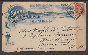Canada Sc 37 used in Halifax on 1896 Summer Carnival Cover Front