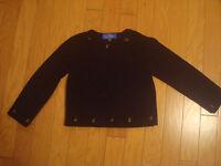 EUC Valentino Junior black fleece sweater size 8 made in Italy