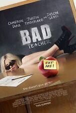 BAD TEACHER Original Movie Poster - Cameron Diaz Medium Size 11x17 Print