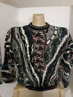 Vintage Tundra Canada Sweater Textured 3D Cosby Coogi Style Size XL Men's