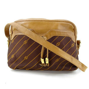 Gucci Vintage GG Supreme Guccissima Canvas Leather Messenger Bag in Brown Italy