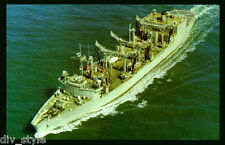 USS Savannah AOR-4  postcard US Navy fleet replenishment oiler