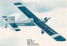 Giant Scale Vintage ACE R/C 4-120 Sport Plane Plans,Templates, Instructions 85ws