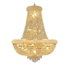 Empire Gold Crystal Chandelier light Fixture Modern Chrome Crystal Chandeliers