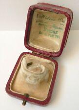 Ancien écrin boite en cuir pour bague 19e siècle  jewel box 19th century bijou